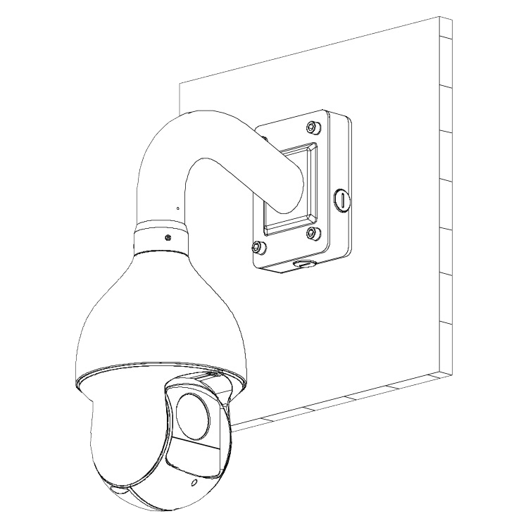 Adapter/Junction Box for PTZ Dome Cameras 2